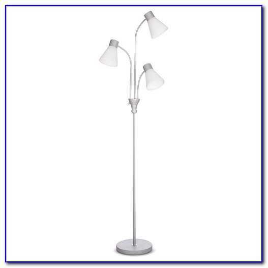 Multi Head Floor Lamp White