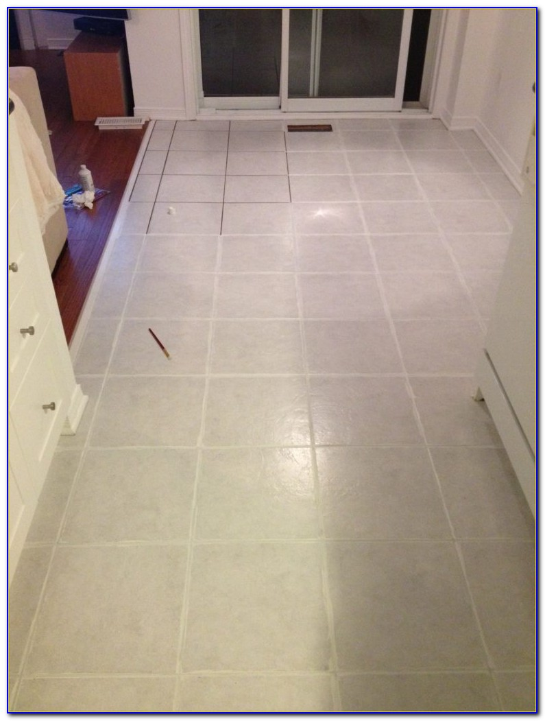 Painting Ceramic Floor Tiles Before And After