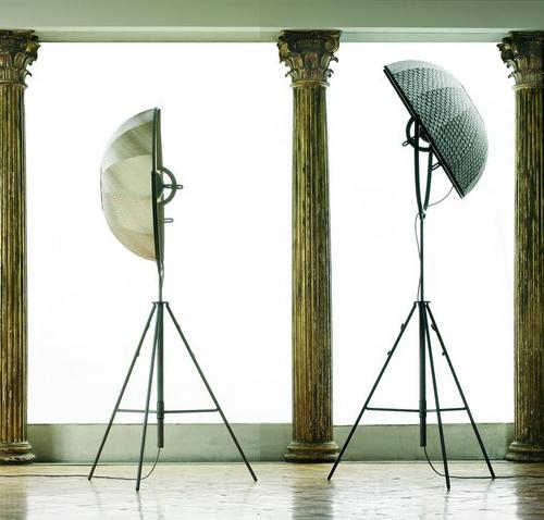 Photographer's Tripod Floor Lamp Antique Nickel Finish