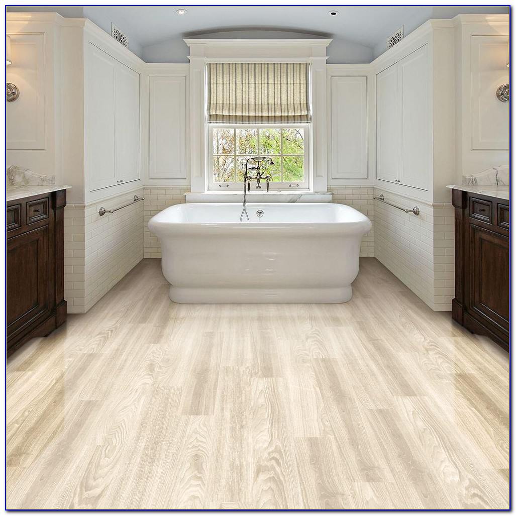 Resilient Vinyl Plank Flooring In Bathroom