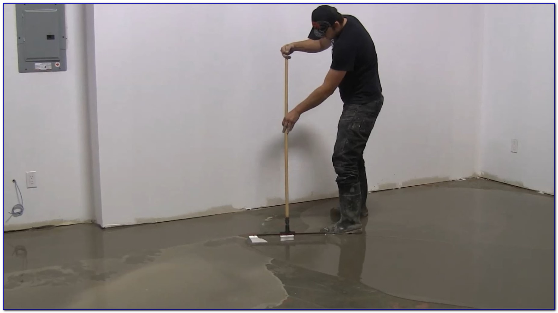 Self Leveling Compound Concrete Garage Floor