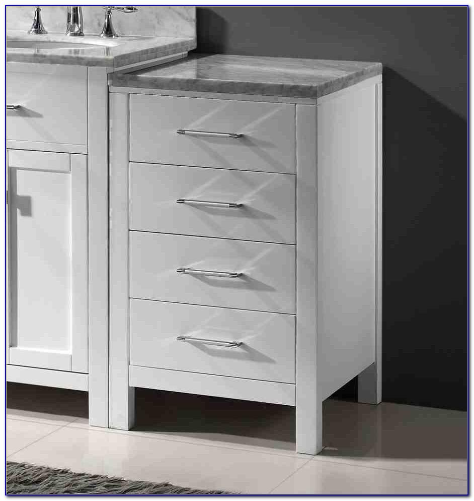 Slim Bathroom Floor Storage Cabinet
