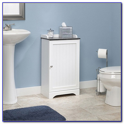 Small Bathroom Floor Storage