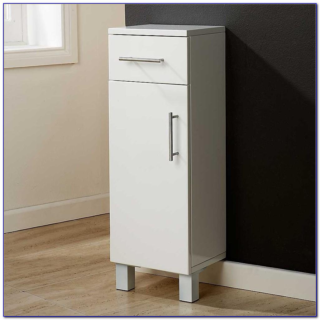 Small Oak Bathroom Floor Cabinet