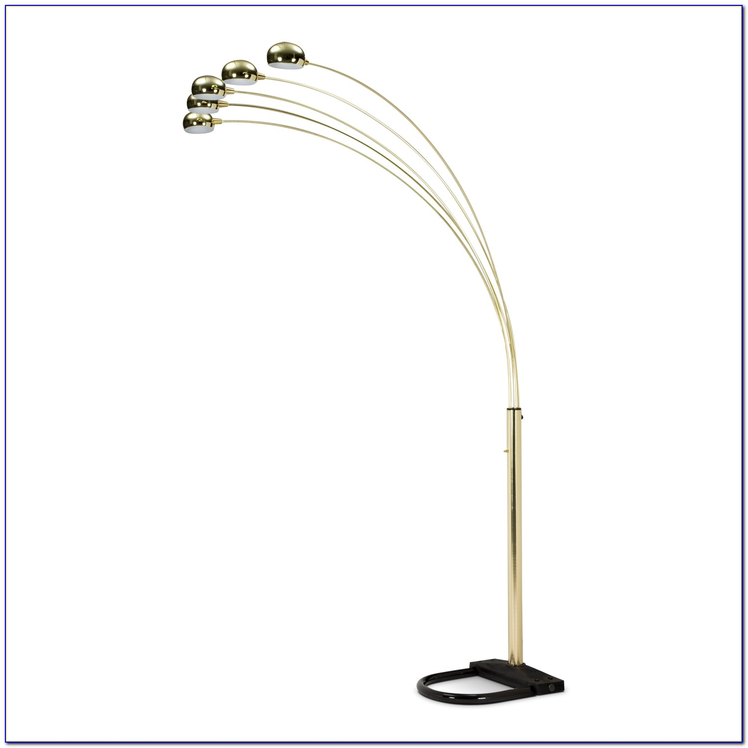 Threshold Brass Arc Floor Lamp