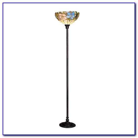 Tiffany Style Glass Torchiere Floor Lamp