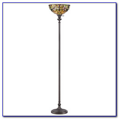 Tiffany Style Torchiere Floor Lamps