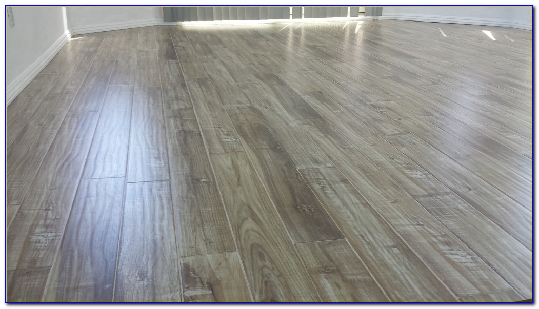 White Washed Grey Laminate Flooring