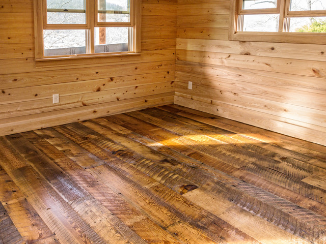 Wide Plank Pine Flooring Installation
