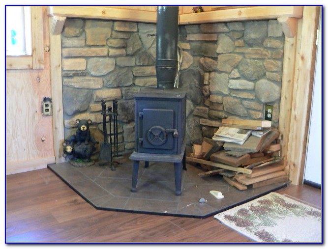 Wood Stove Floor Protector Ideas