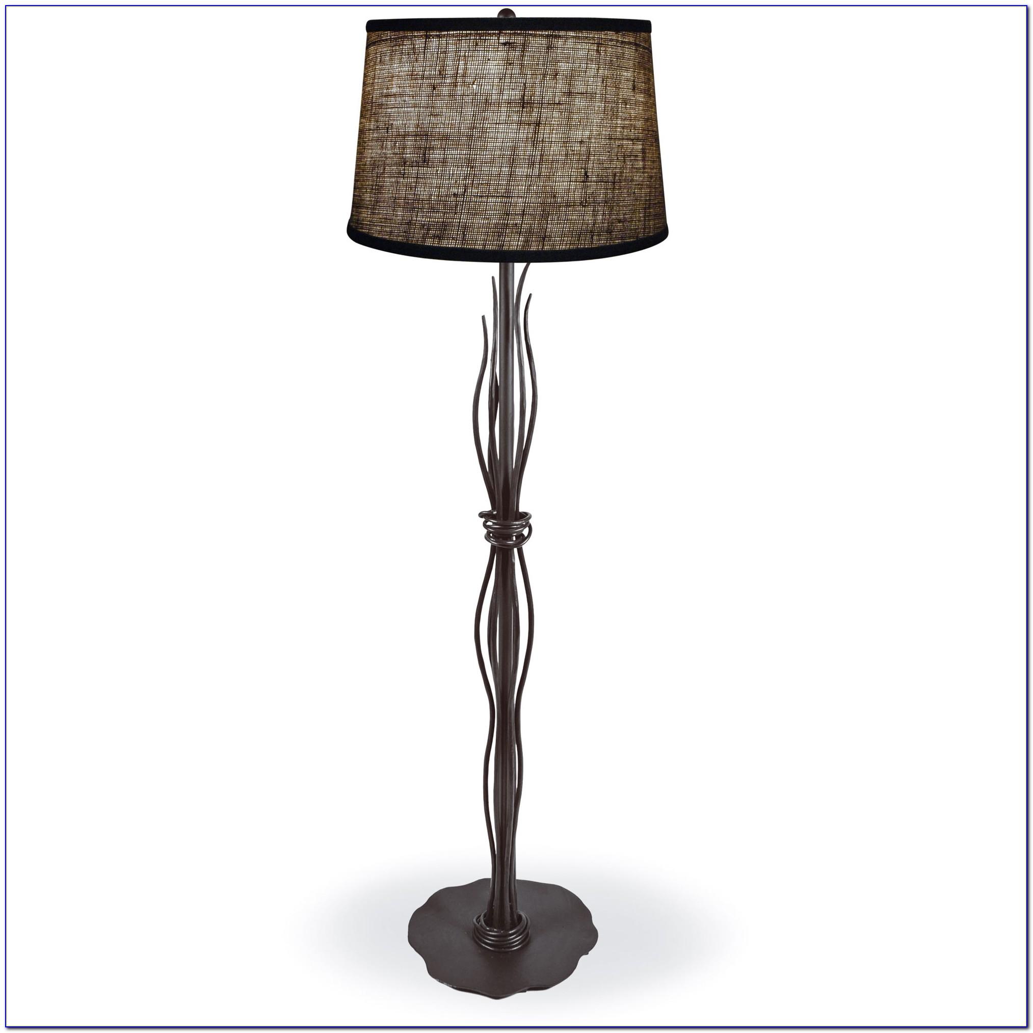 Wrought Iron Floor Lamp Antique