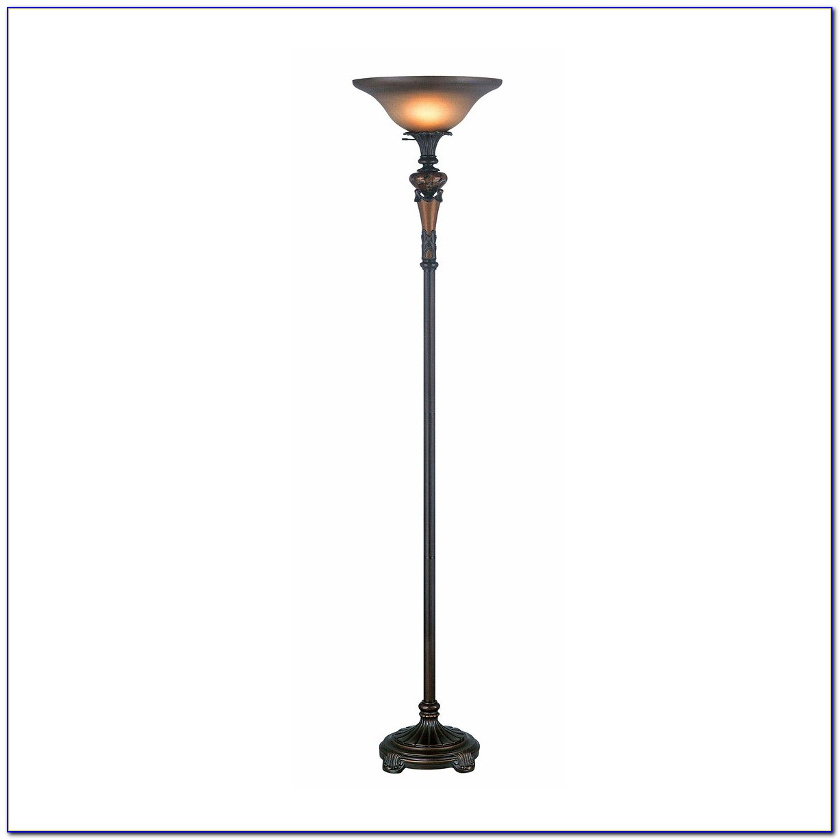 Alton Bronze Torchiere Floor Lamp With Reader