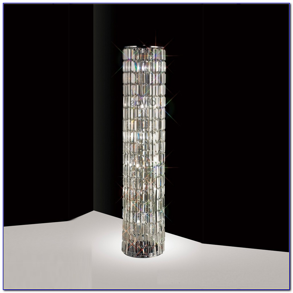 Arc Floor Lamp With Crystals