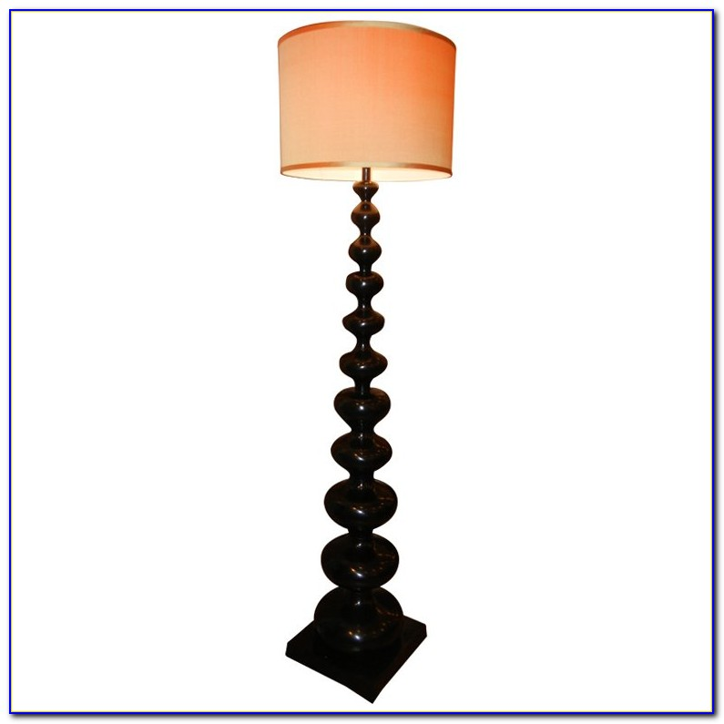 Barley Twist Floor Lamp Oak