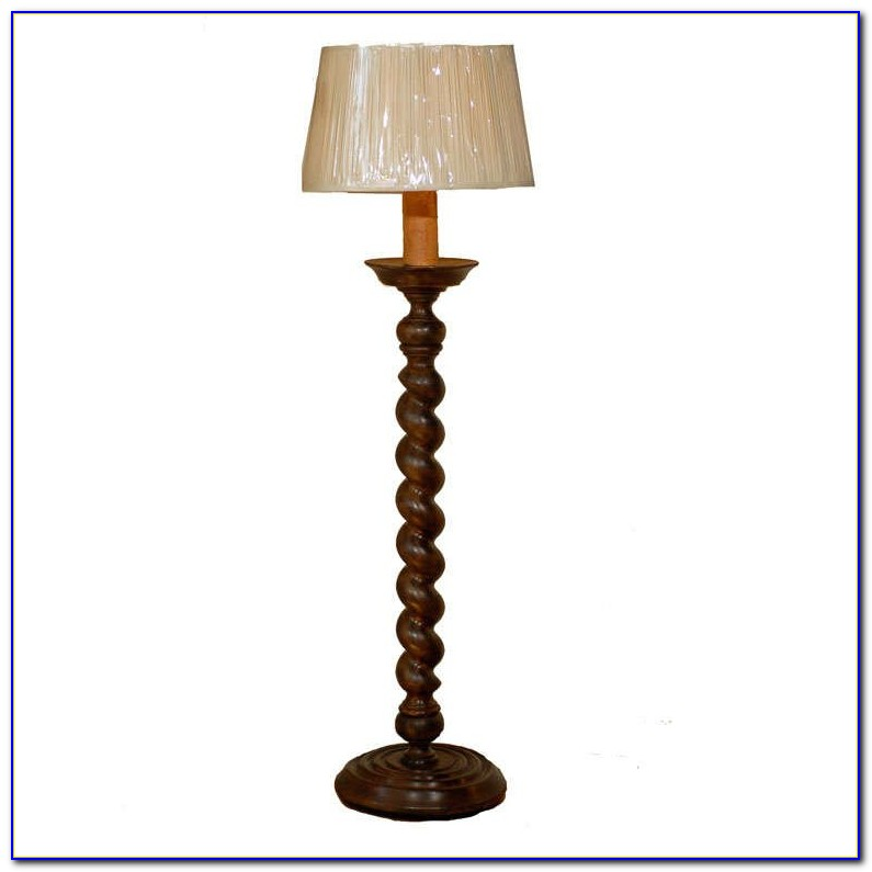 Barley Twist Floor Lamp With Table