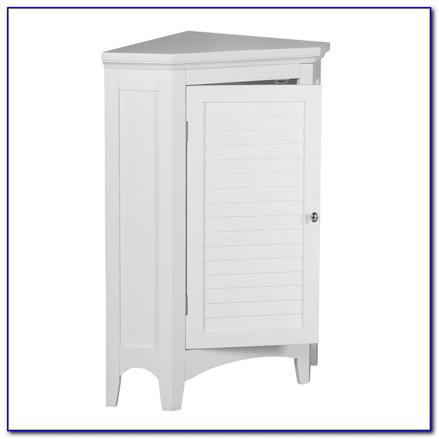 Bathroom Corner Floor Cabinet White