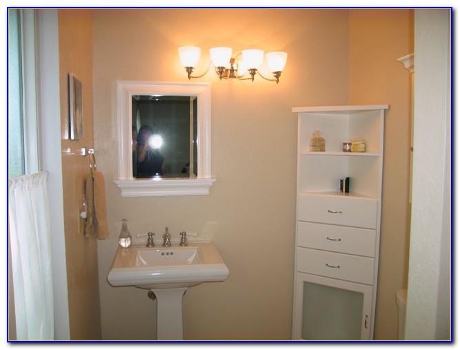 Bayfield White Shutter Door Corner Floor Bathroom Cabinet