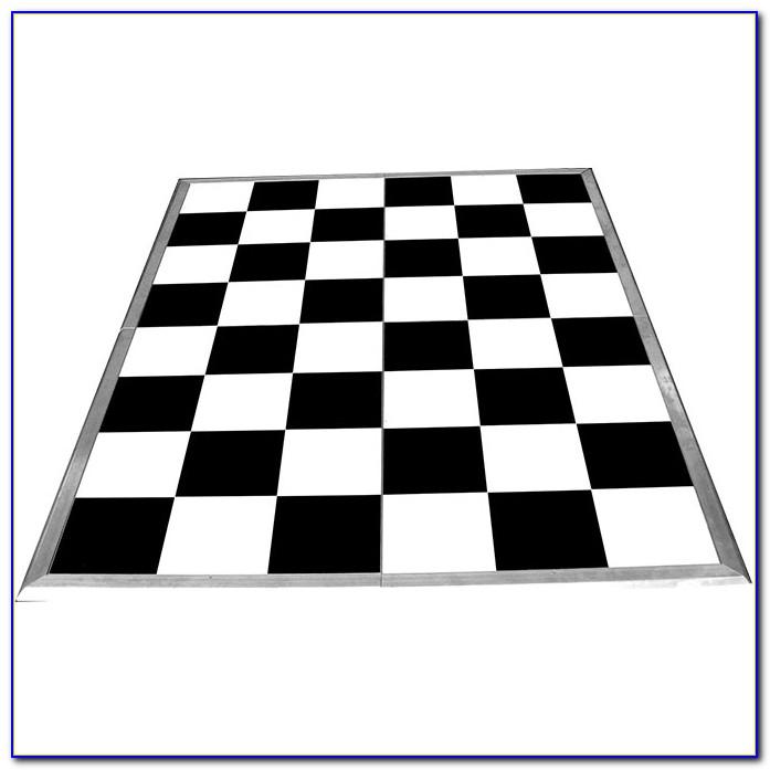 Black And White Checkered Vinyl Flooring Roll