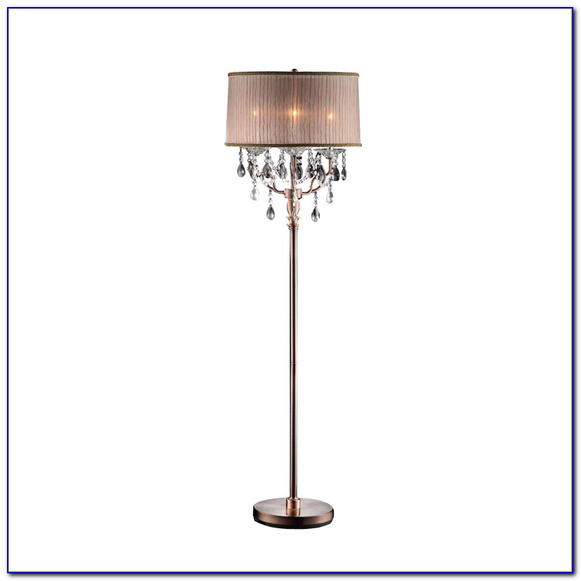 Black Floor Lamp With Crystals
