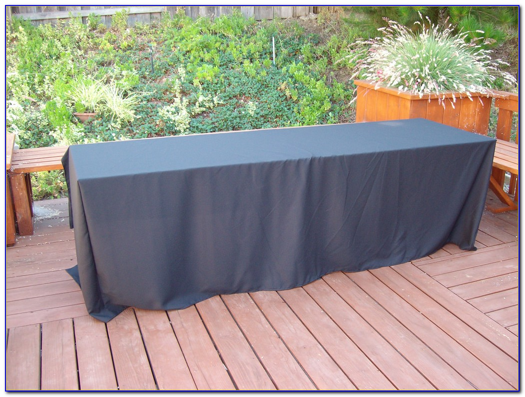 Black Floor Length Tablecloths