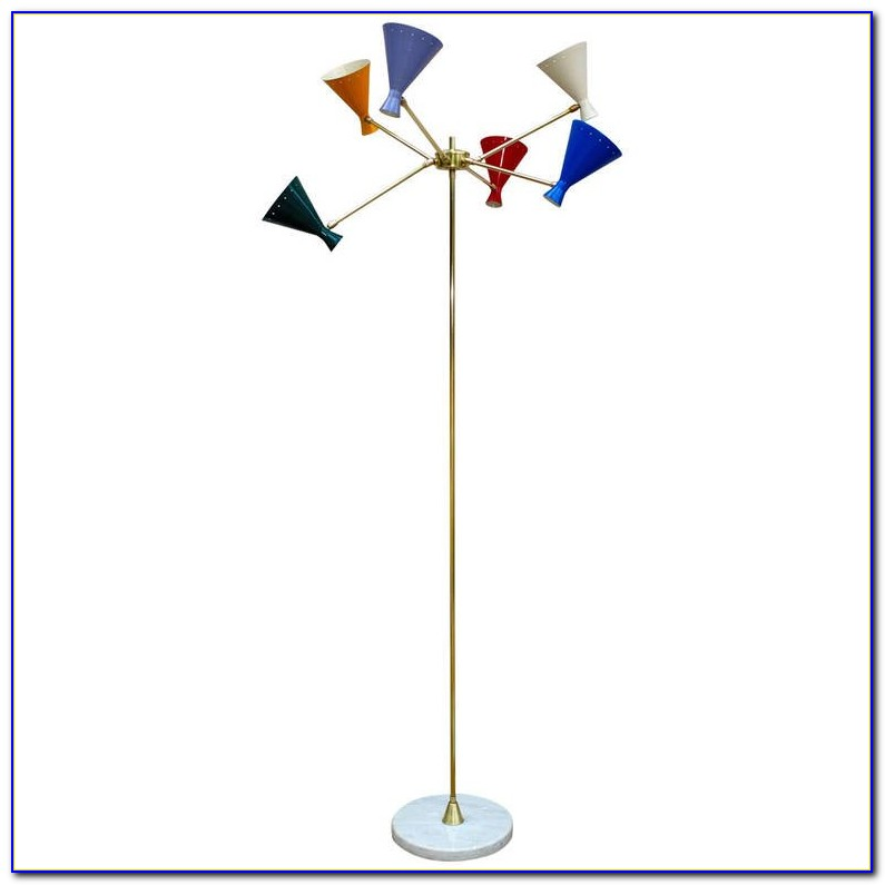 Black Multi Arm Floor Lamp
