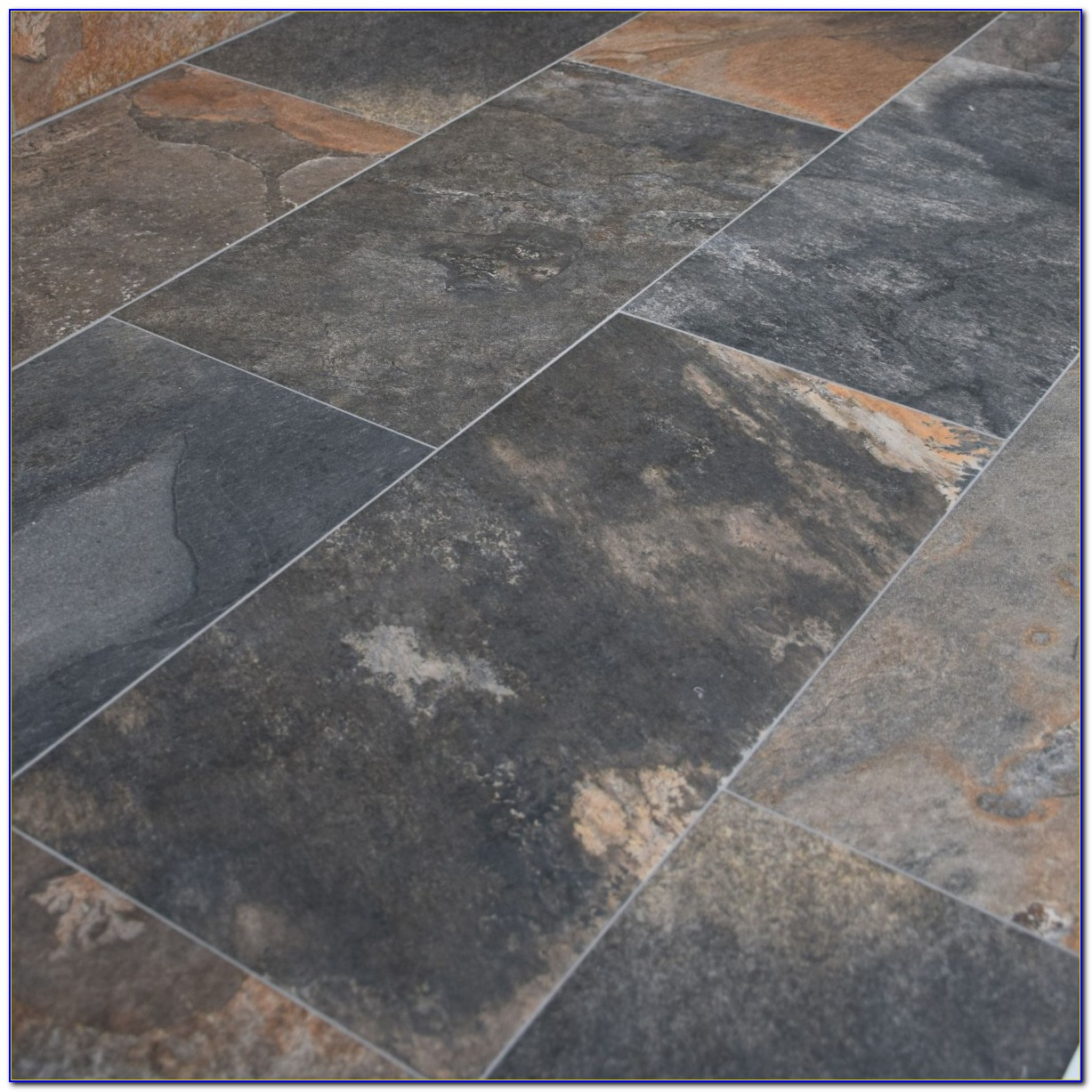 Black Porcelain Slate Effect Floor Tiles