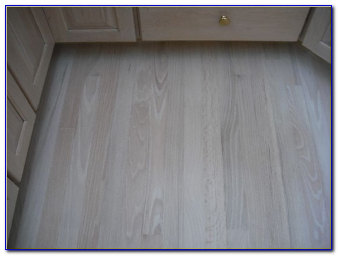 Bleached White Wooden Flooring