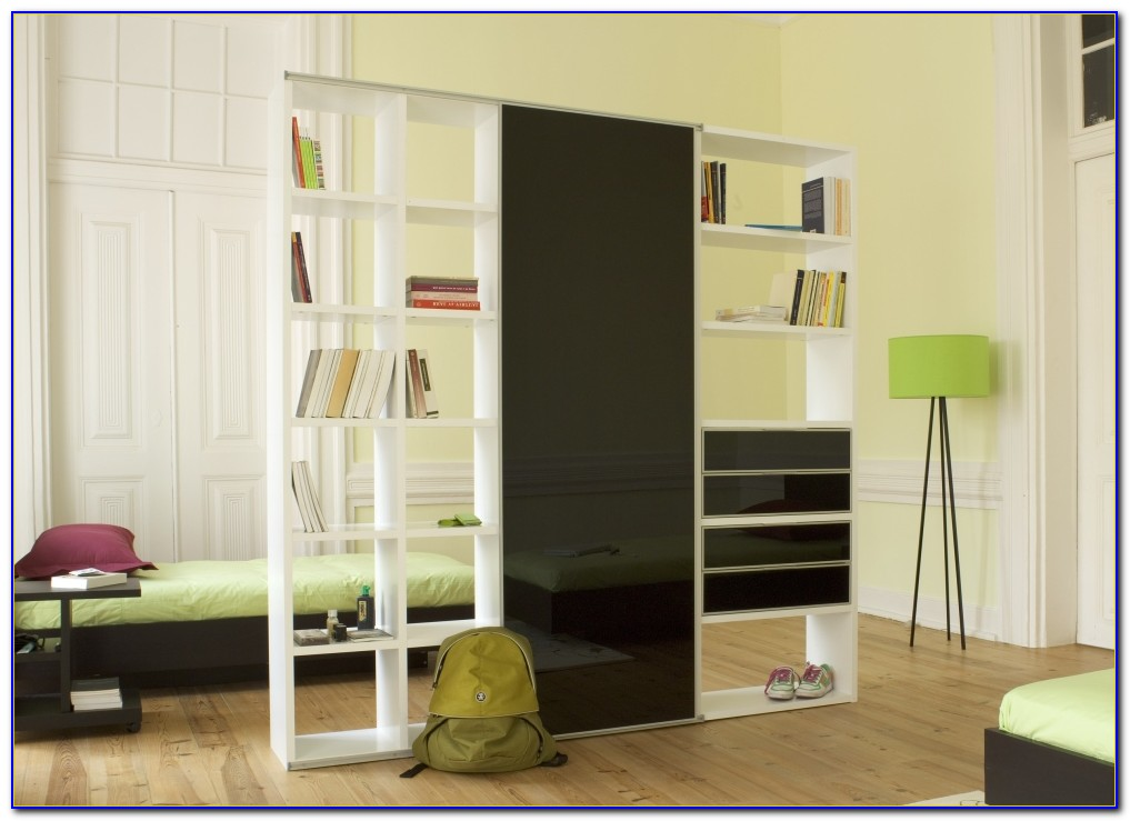 Bookshelf With Sliding Doors