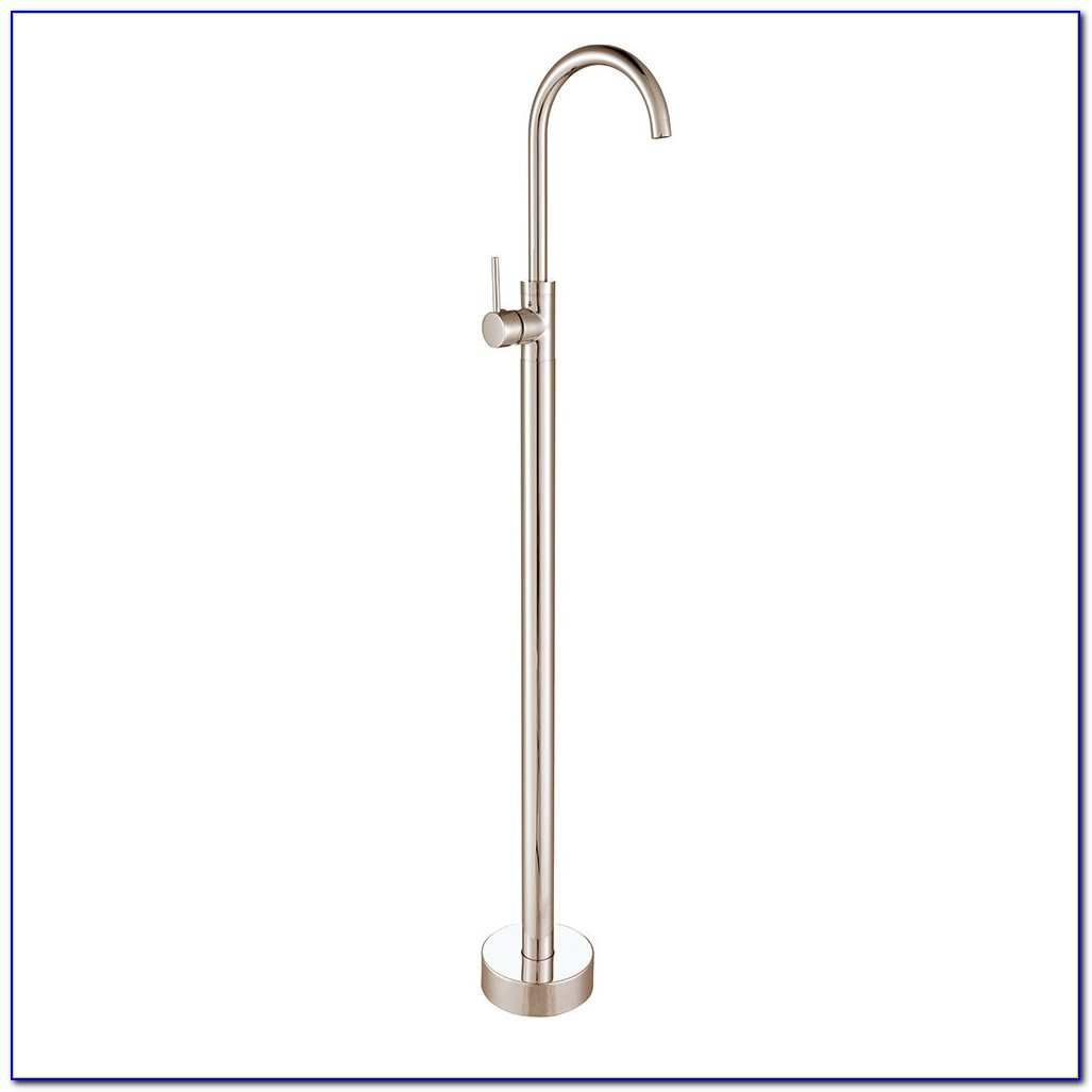 Brushed Nickel Floor Mount Tub Filler