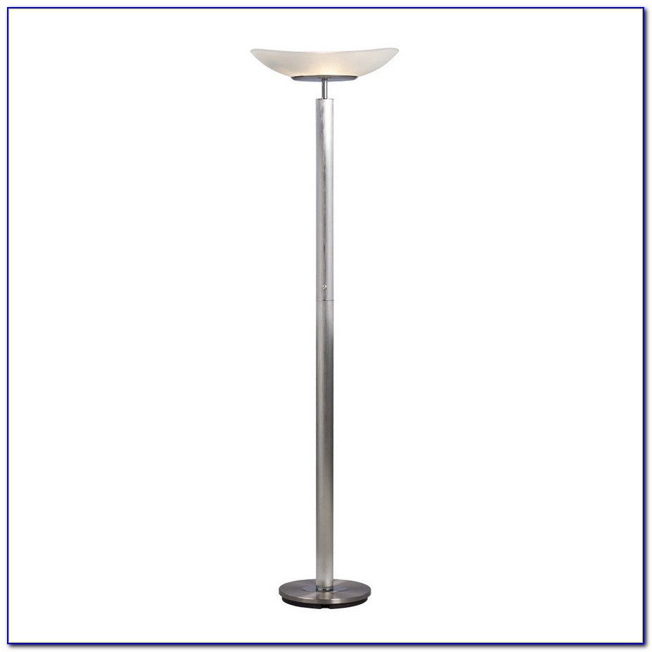 Brushed Nickel Torchiere Floor Lamp