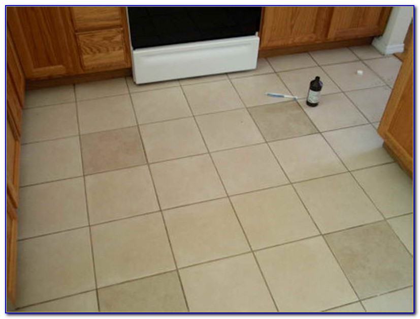 Cleaning Tile Floor Grout White