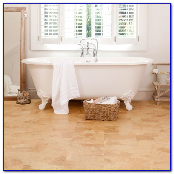 Cork Floor Tiles In Bathroom