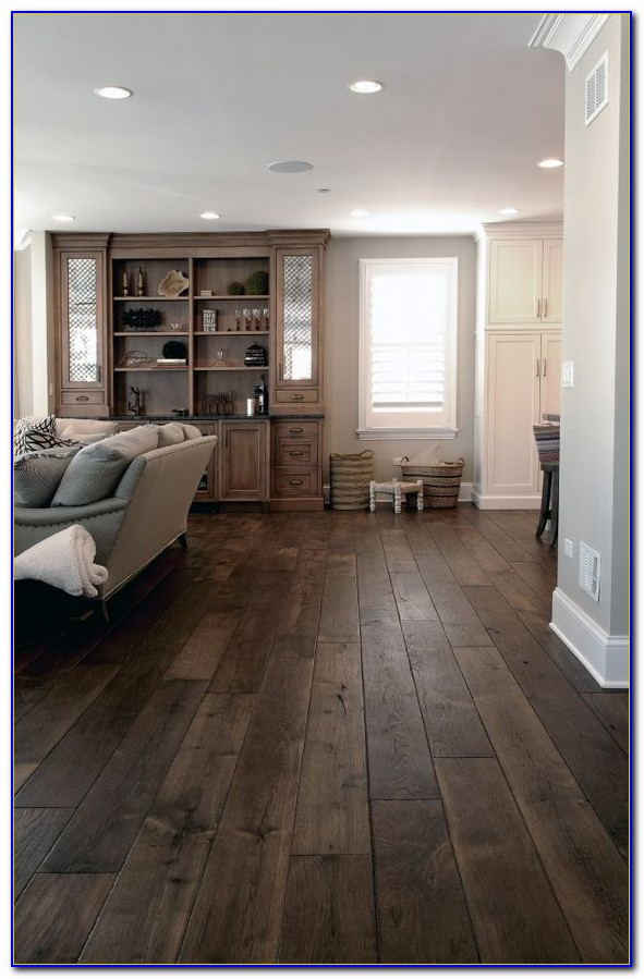 Dark Hardwood Floors With Gray Walls