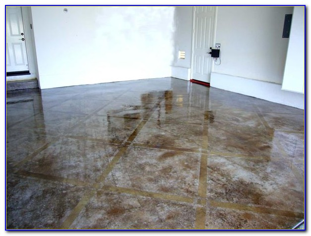 Diy Acid Stain Garage Floor