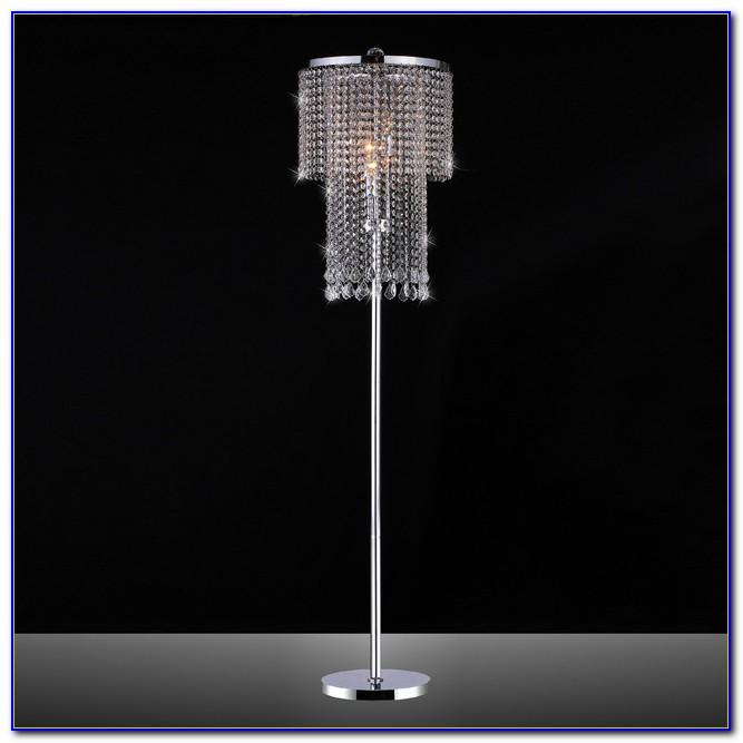 Drexel Heritage Floor Lamp With Crystals