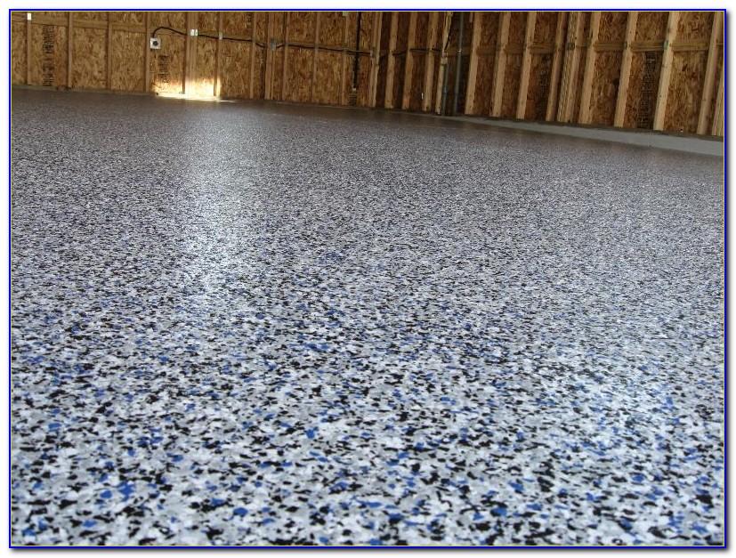 Epoxy Garage Floor With Flakes