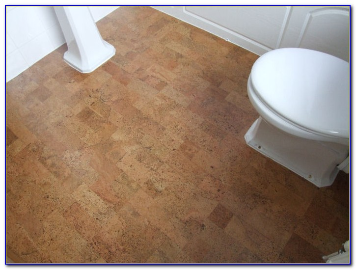 Floating Cork Floor In Bathroom