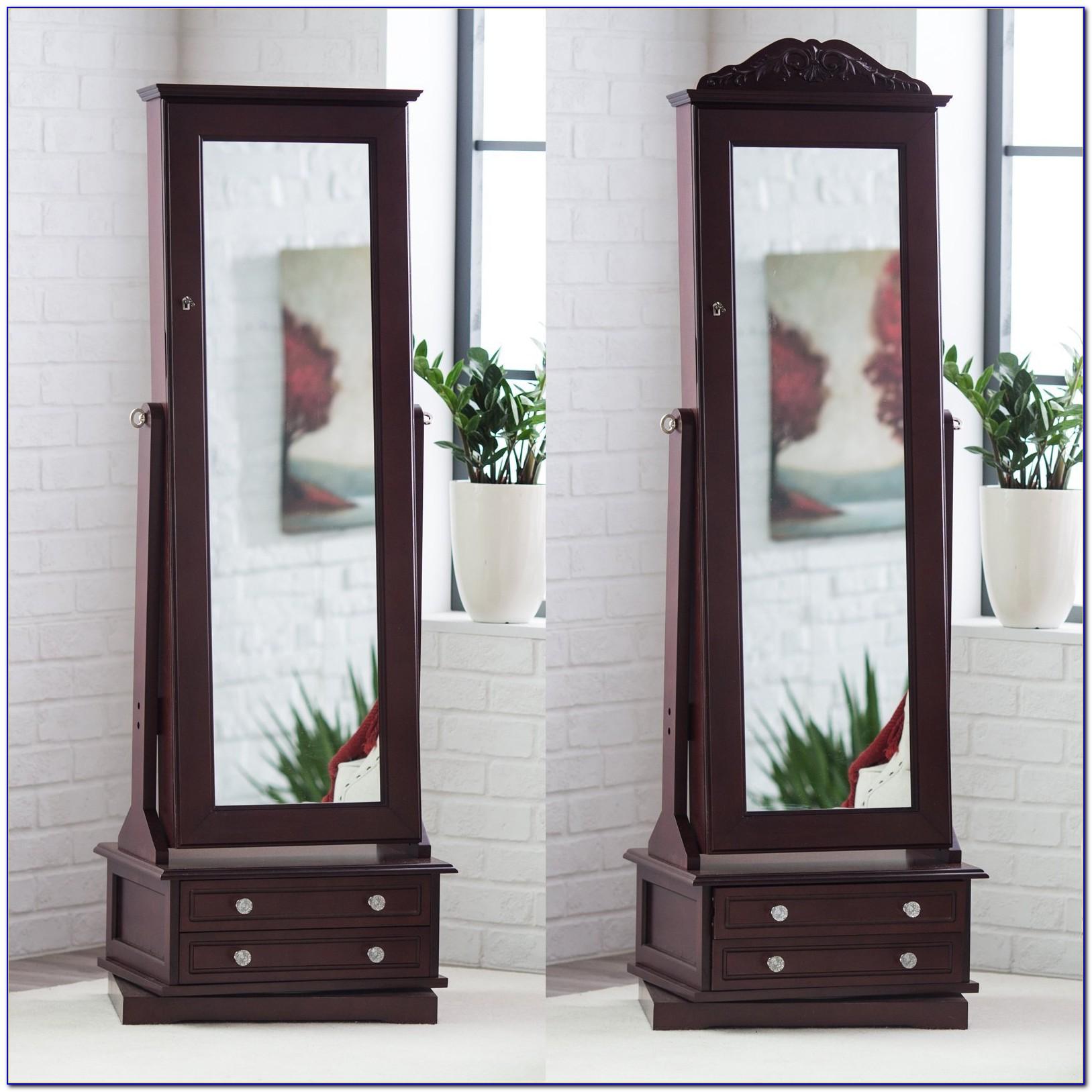 Floor Mirror Jewellery Cabinet