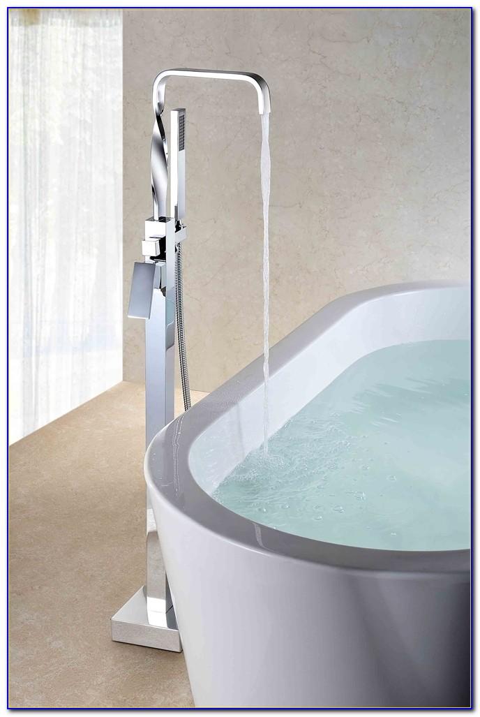 Floor Mount Tub Faucet Bronze
