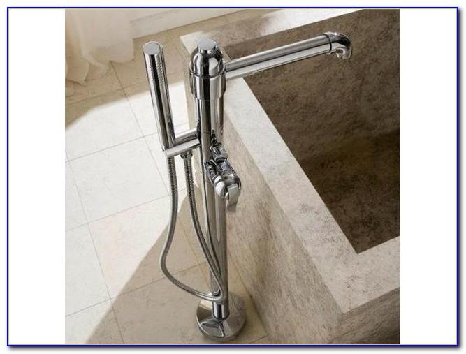 Floor Mount Tub Faucet Brushed Nickel