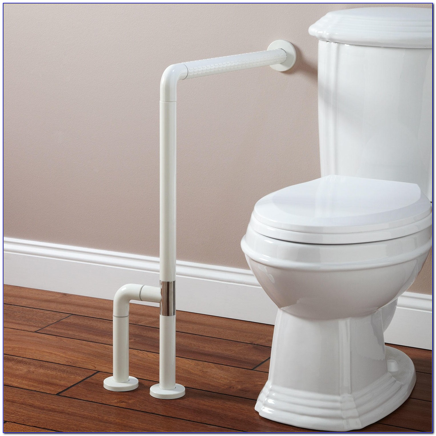 Floor Mounted Fold Down Grab Bars