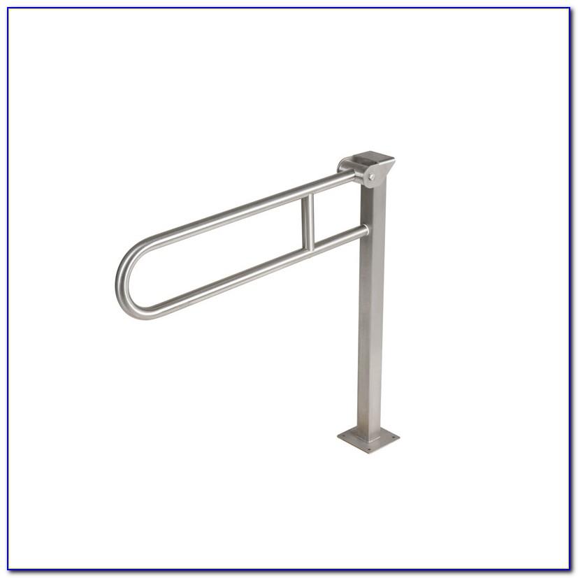 Floor Mounted Handicap Grab Bars