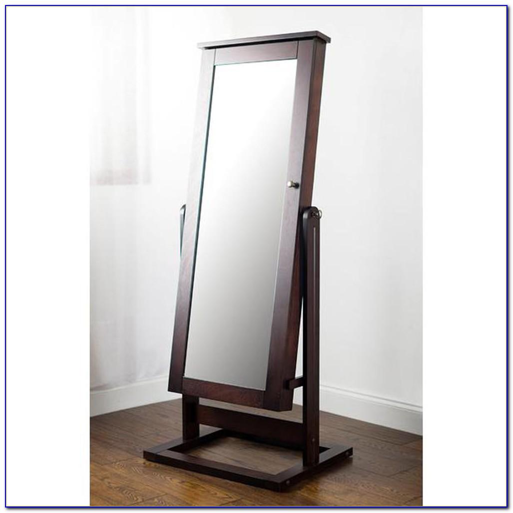 Floor Standing Mirror Jewellery Cabinet