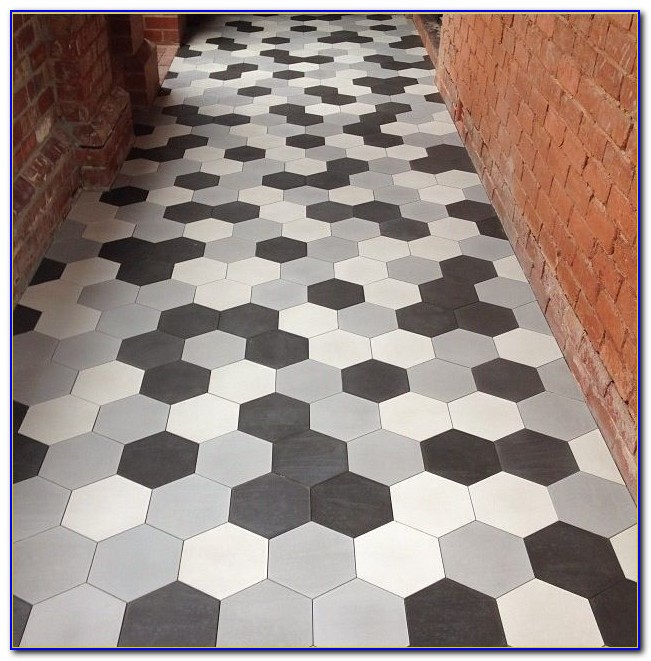 Grey Ceramic Hex Tile