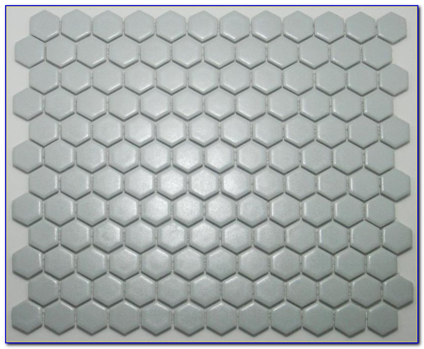 Grey Hex Bathroom Floor Tile