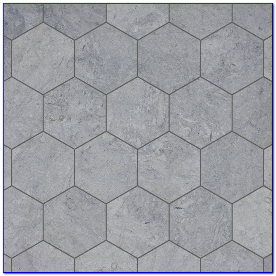 Grey Hexagon Floor Tile
