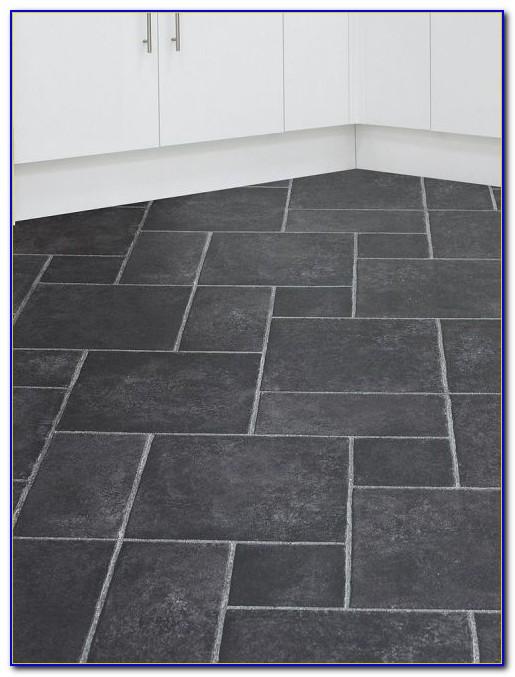 Grey Slate Effect Vinyl Flooring
