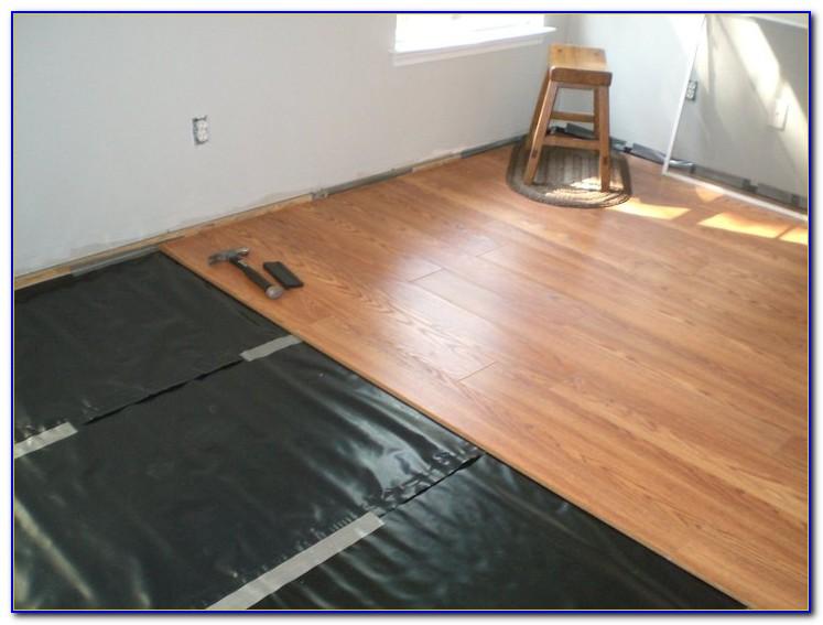 Hardwood Floor Over Concrete Slab