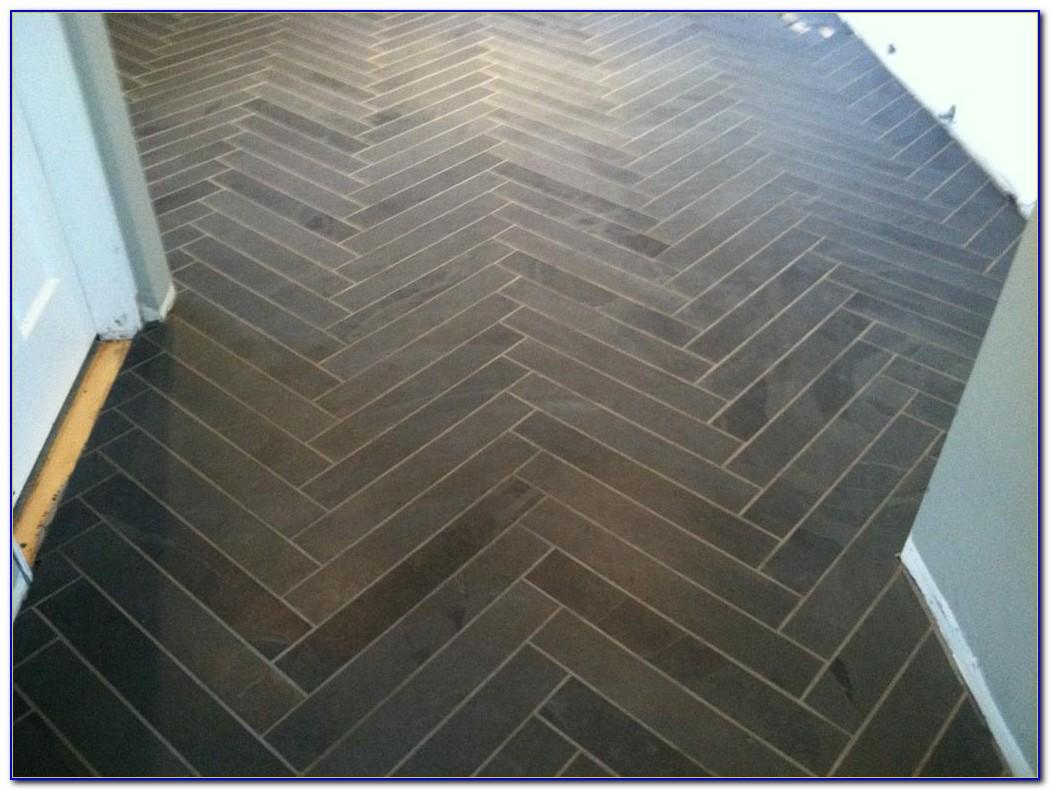Herringbone Tile Pattern Bathroom Floor