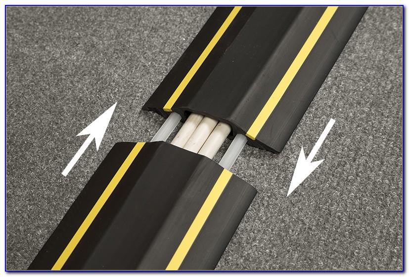 How To Hide Computer Cords On Floor